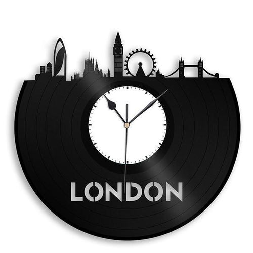 London Skyline Vinyl Wall Clock