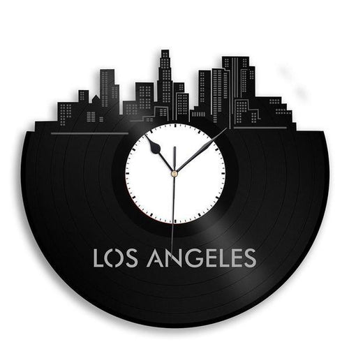 Los Angeles Skyline Vinyl Wall Clock
