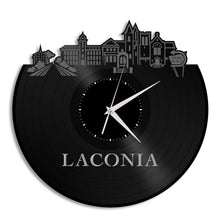 Laconia New Hampshire Vinyl Wall Clock