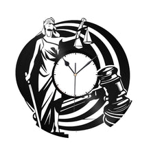 Law Clock Vinyl Wall Clock - VinylShop.US
