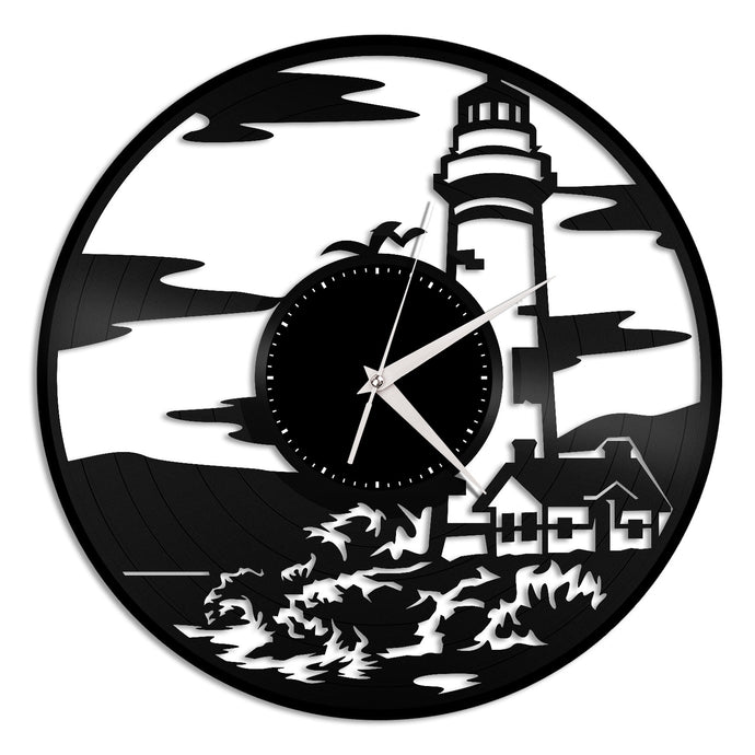 Lighthouse Vinyl Wall Clock - VinylShop.US