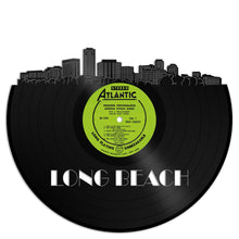Long Beach Skyline Vinyl Wall Art - VinylShop.US