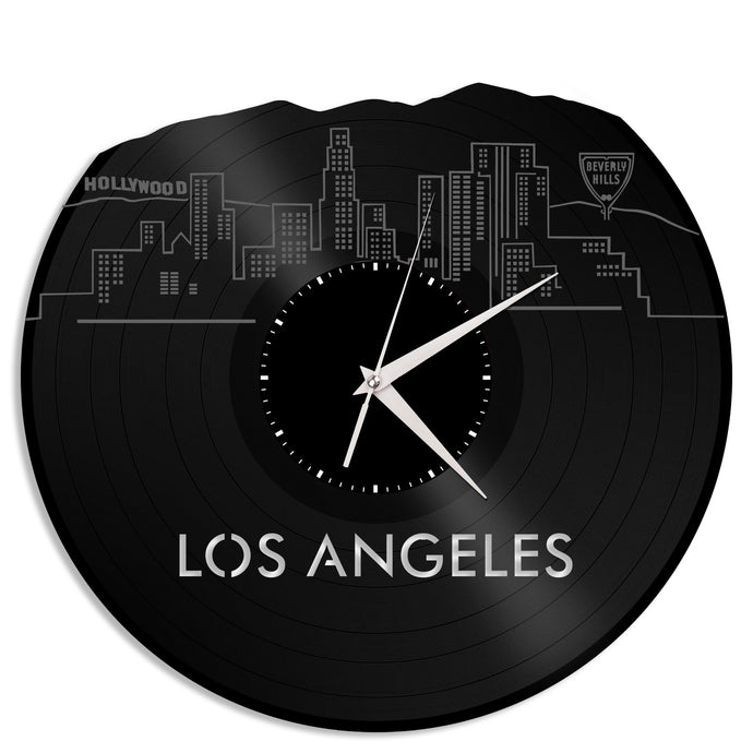 Los Angeles Skyline Vinyl Wall Clock Updated - VinylShop.US