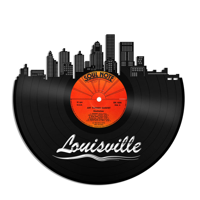 Louisville Updated Skyline Vinyl Wall Art