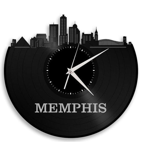 Memphis Skyline Vinyl Wall Clock