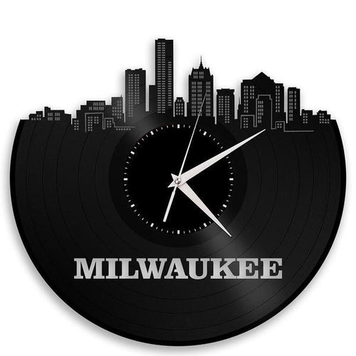 Milwaukee Skyline Vinyl Wall Clock - VinylShop.US