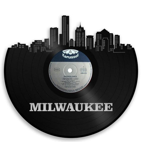 Milwaukee Skyline Vinyl Wall Art - VinylShop.US