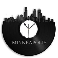 Minneapolis Skyline Vinyl Wall Clock - VinylShop.US
