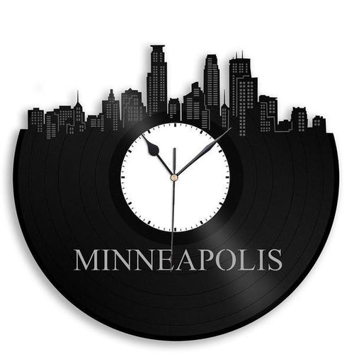 Minneapolis Skyline Vinyl Wall Clock