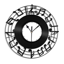 Music Notes Vinyl Wall Clock - VinylShop.US