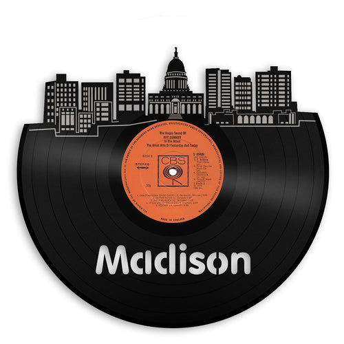 Madison Skyline Vinyl Wall Art - VinylShop.US