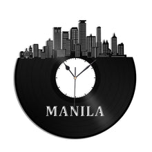 Manila Philippines Skyline Vinyl Wall Clock