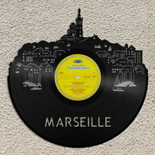Marseille Skyline Vinyl Wall Art - VinylShop.US