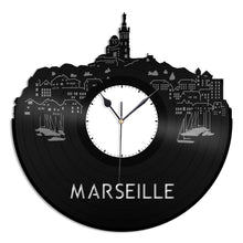 Marseille Skyline Vinyl Wall Clock - VinylShop.US