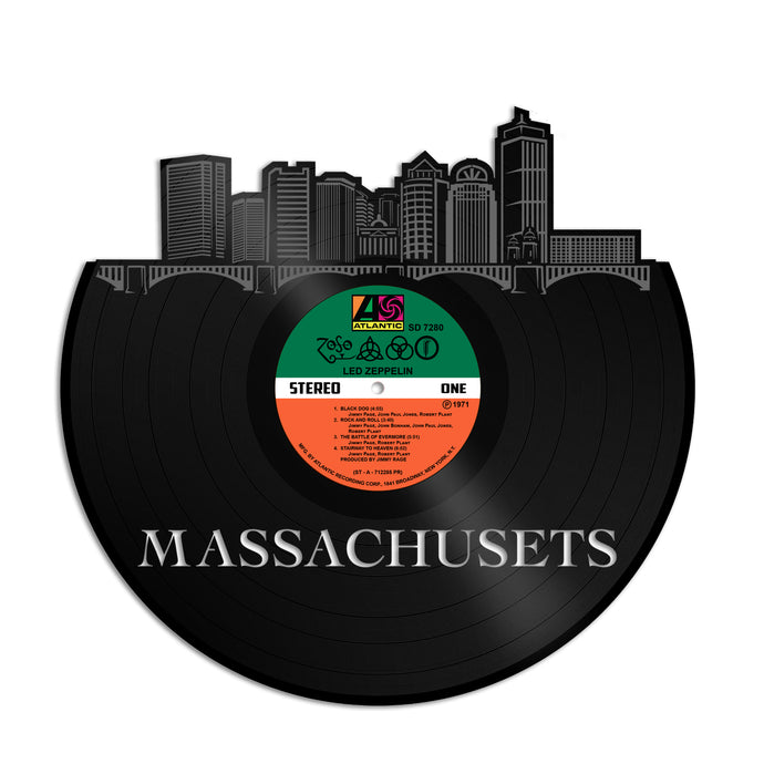 Massachusets Skyline Vinyl Wall Art