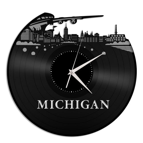 Michigan Skyline Vinyl Wall Clock - VinylShop.US