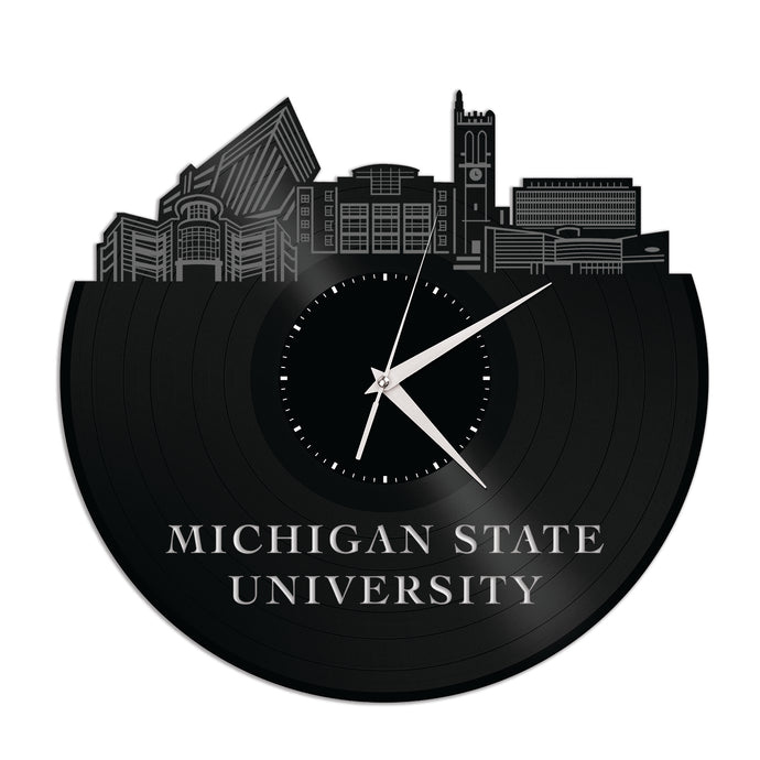 Michigan State University Vinyl Wall Clock