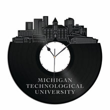 Michigan Technological University Vinyl Wall Clock