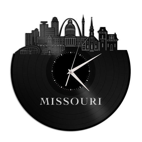 Missouri Skyline Vinyl Wall Clock