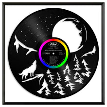 Moon and Wolf Vinyl Wall Art