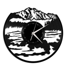 Mountains with water Vinyl Wall Clock - VinylShop.US