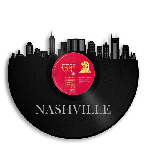 Nashville Skyline Vinyl Wall Art - VinylShop.US