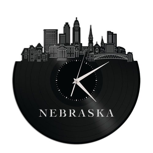 Nebraska Vinyl Wall Clock - VinylShop.US