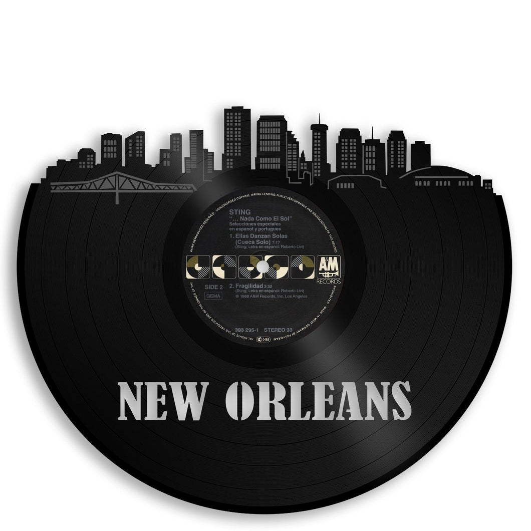 New Orleans Skyline Vinyl Wall Art - VinylShop.US