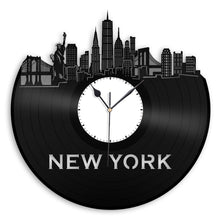 New York Updated Skyline Vinyl Wall Clock - VinylShop.US