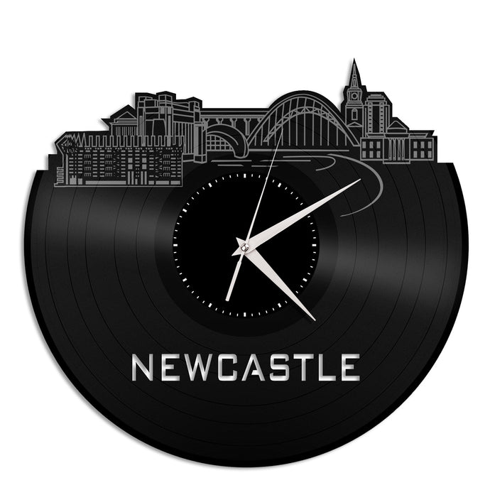 Newcastle Skyline Vinyl Wall Clock - VinylShop.US