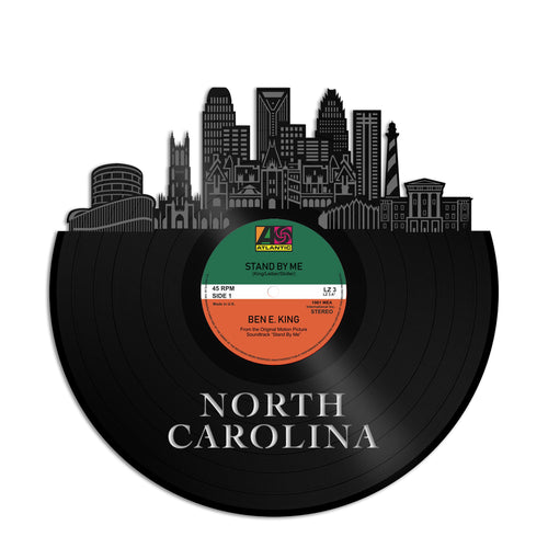 North Carolina Skyline Vinyl Wall Art - VinylShop.US