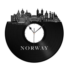 Norway Vinyl Wall Clock