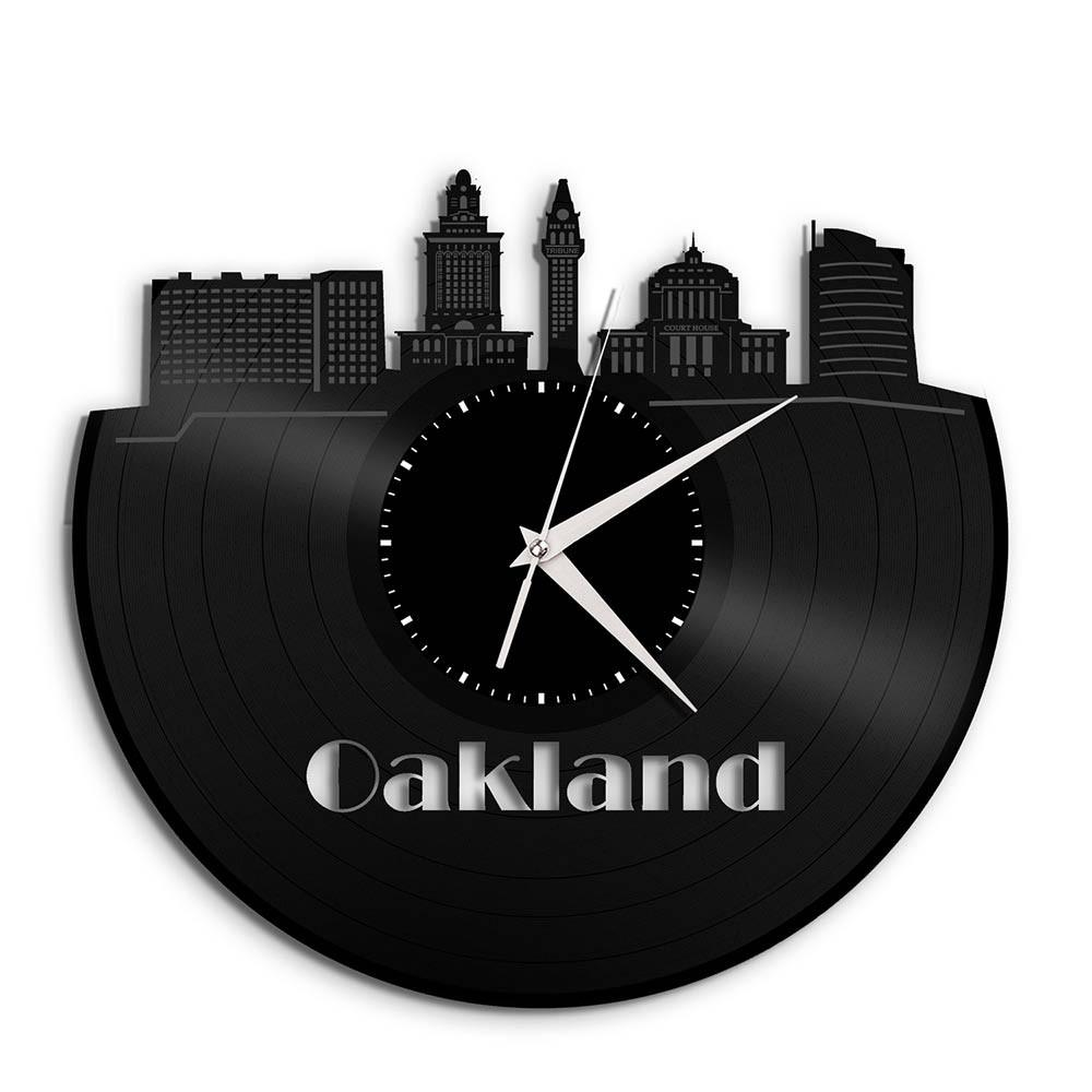 Unique Vinyl Wall Clock OAKLAND