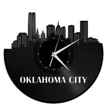 Unique Vinyl Wall Clock Oklahoma