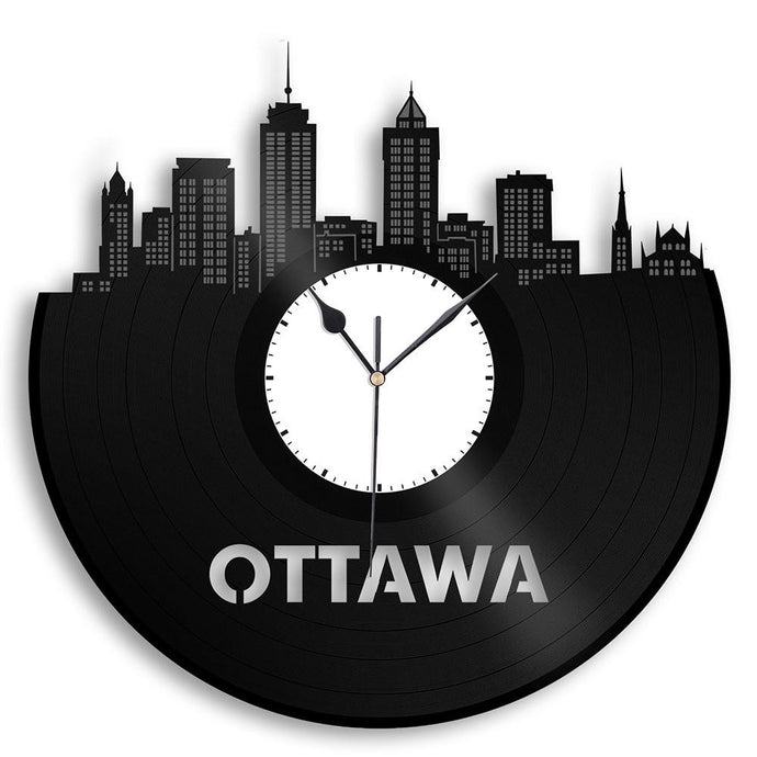 Unique Vinyl Wall Clock Ottowa