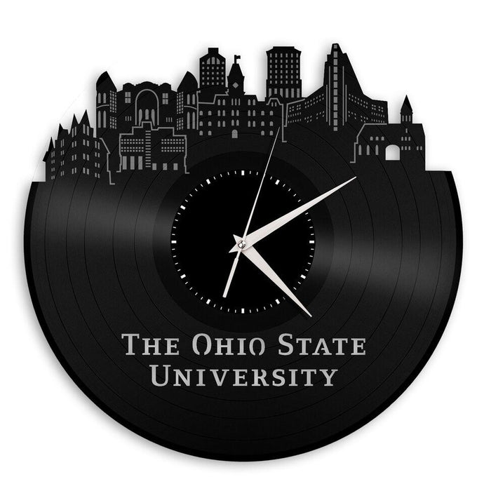 Ohio State University Vinyl Clock - OSU Vinyl Record Design - VinylShop.US