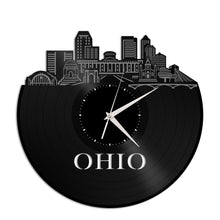 Ohio Skyline Vinyl Wall Clock - VinylShop.US