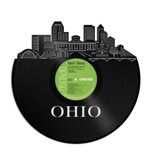 Ohio Skyline Vinyl Wall Art - VinylShop.US