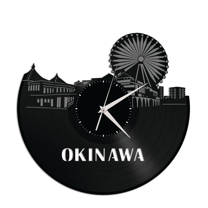 Okinawa Skyline Vinyl Wall Clock
