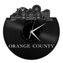 Orange County CA Vinyl Wall Clock