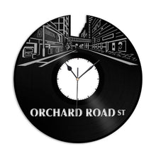 Orchard Road Street Vinyl Wall Clock