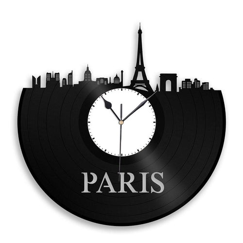 Unique Vinyl Wall Clock Paris
