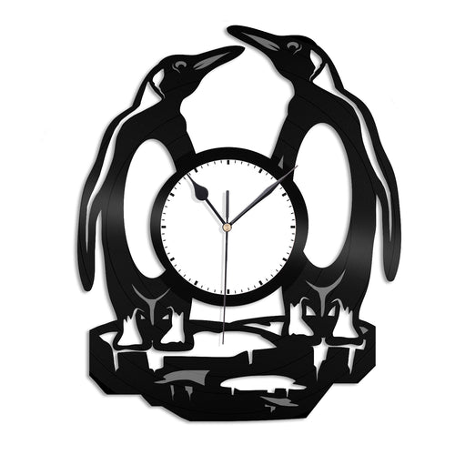 Penguins Vinyl Wall Clock - VinylShop.US