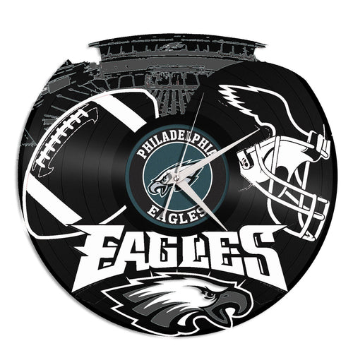 Philadelphia Eagles Vinyl Wall Clock - VinylShop.US