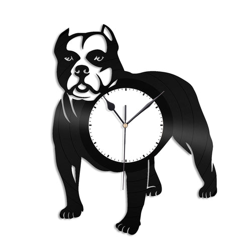 Pitbull Vinyl Wall Clock - VinylShop.US