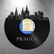 Prague Wall Art Skyline Vinyl Record Updated - VinylShop.US