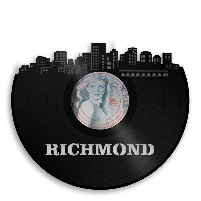Richmond Skyline Vinyl Wall Art - VinylShop.US