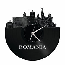 Romania Skyline Vinyl Wall Clock