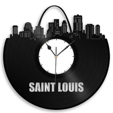 Unique Vinyl Wall Clock Saint Louis