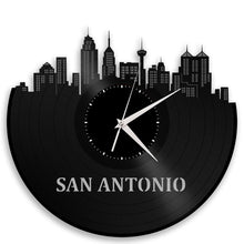 Unique Vinyl Wall Clock San Antonio